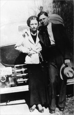 Bonnie Parker and Clyde Barrow, c. 1933