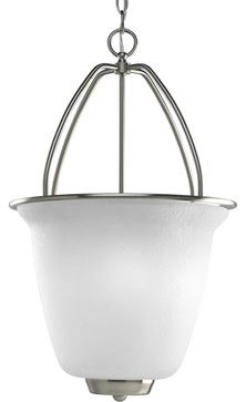 Maybe for my kitchen? Progress New Bedford Entry Foyer Pendant in Brushed Nickel - Eclectic - Pendant Lighting - Hansen Wholesale