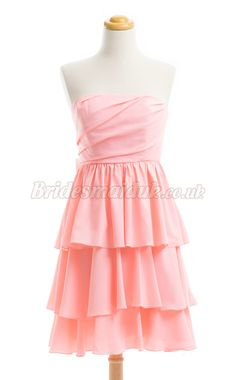 Sexy A Line Straight Across Bridesmaid Dress BSDUK-202