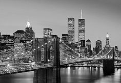 Wall mural new york city black & #white photo #wallpaper #366x254cm wall art, View more on the LINK: http://www.zeppy.io/product/gb/2/140994663662/