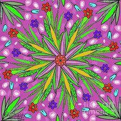 Flowers Bloom. Digital art by Caroline Street. #mandala #flowerart #pink #lettering #spring #gardens Mandala Art, Flower Art, Fine Art America, Digital Art, Greeting Cards, Bloom, Gardens, Lettering, Wall Art