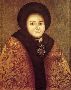 Tsarina Evdokiya Feodorovna Lopukhina (1669-1731), the wife of tsar Peter I of Russia by Anonymous, 18th century