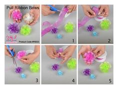 Print Ribbon Bows #diy #joyfuleventsstore #decorations