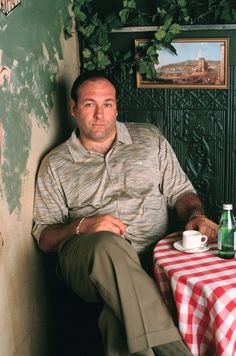With a simple twist of his face, James Gandolfini turned Tony Soprano into the baddest, scariest man in century television. Al Pacino, Os Sopranos, Mafia, Really Good Movies, Tony Soprano, Hbo Series, Steve Buscemi, Six Feet Under, Movie Posters