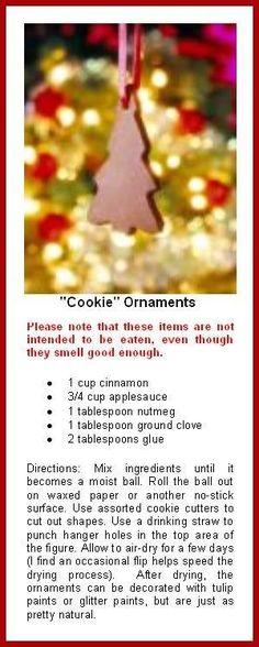 Gingerbread party non Edible Cinnamon Ornaments