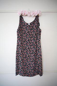 Vintage Floral 90s Shift Grunge Dress by AlteredStatesAu on Etsy, $35.00