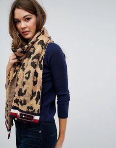 #ASOS - #Tommy Hilfiger Tommy Hilfiger Leopard Knit Scarf - Multi - AdoreWe.com