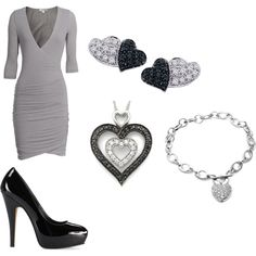 Not so much into hearts. But like the dress and shoes :)