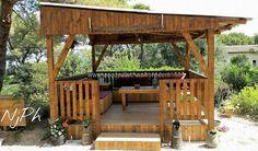diy wood pallets gazebo deck