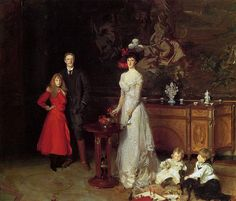 John Singer Sargent - circa 1900 -Family Sitwell.