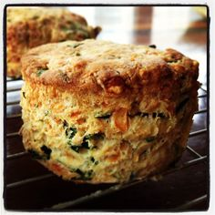 Wild Garlic and Cheese Scones:  got some wild garlic at the farmer's market yesterday; these would be perfect.