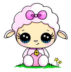 Distinctive and Artistic Cute sheep kawaii You are in the right place about Art Drawing hair Here we offer you the most beautiful pictures about. Doodles Kawaii, Cute Doodles, Kawaii Disney, Arte Do Kawaii, Kawaii Art, Cute Easy Drawings, Cute Animal Drawings, Kawaii Girl Drawings, Cartoon Drawings