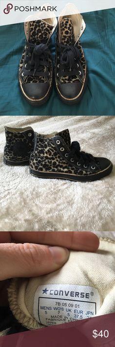 Rare leopard converse Rare size 7 leopard converse. Converse Shoes