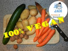 A survey showed that 100% of all snowmen eat vegan.  The snowman supports also your vegan project on WDoS.