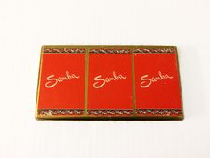 Vintage Samba Canasta Triple Deck Playing Cards by Arrco 3 Decks Red Cards by ThriftyTheresa