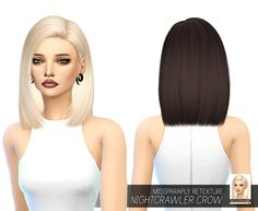 Miss Paraply: Nightcrawler`s Crow hair retextured - Sims 4 Hairs - http://sims4hairs.com/miss-paraply-nightcrawlers-crow-hair-retextured/