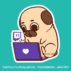 Tomorrow (January 17) at 4pm PST - Twitch.tv/pugliepug Draw with me, chat with me, ask me anything, or just enjoy it quietly! It'll hopefully be the first stream in many this year :3