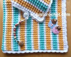 Free baby crochet pattern for bubbles baby blanket http://www.justcrochet.com/bubbles-baby-blanket-usa.html #justcrochet