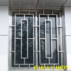 New simple iron window grill design Home Window Grill Design, Window Grill Design Modern, Iron Window Grill, Balcony Grill Design, Grill Door Design, Door Gate Design, Front Door Design, Railing Design, Window Design