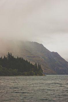 sea, fog