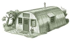 quonset hut style cabin