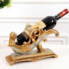 EC DAILY US European retro luxury bottle wine rack wine rack creative resin holder home decorations