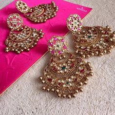 nice Indian Jewelry | Gold Flowers Earrings | Perfect for Spring/Summer Indian Events... by post_link