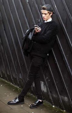 Streetstyle outside James Long F/W 14  he mixed casual with classy