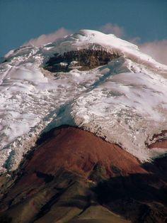 Cotopaxi North Face - Cordillera Oriental, Ecuador http://www.ecuadorgalapagostravels.ec/modulos/cotopaxi_north_south_faces.php