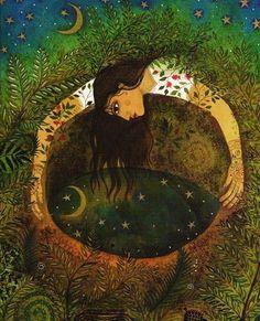 La LUNA, simboliza lo receptivo y lo #femenino de la vida. Los cambios, la imaginación, la sensibilidad. Tendencias #artísticas, pasividad, amor maternal, #intuición.