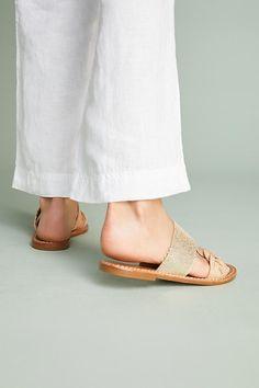 16fb5c6084ea17 Slide View  5  Soludos Metallic Braided Slide Sandals Slide Sandals