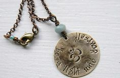 hand stamped custom necklace with Buddah quote by debidean on Etsy, $29.00