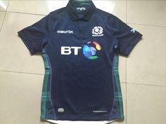 2015 2016シーズンスコットランドホームラグビージャージーユーロマイヨ袖ラグビーボール一致ユニフォームスポーツショートシャツ男性