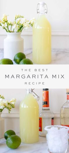 Best Margarita Mix, Homemade Margarita Mix, Best Margarita Recipe, Homemade Margaritas, Margarita Bar, Margarita Recipes, Cocktail Drinks, Fun Drinks, Alcoholic Drinks