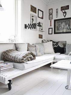 La nueva tendencia en decoración: sofás con palets