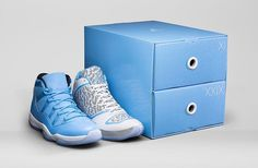 Sneaker heads prepare to get excited! Nike has paired the latest Air Jordan and one of their most iconic sneakers to-date, the Air Jordan XI, for the 'Ultimate Gift of Flight' pack. Air Jordan Xi, Air Jordan Shoes, New Release Shoes, Adidas Runners, Shoe Releases, Cheap Jordans, Michael Jordan Shoes, Jordan Model, Shoe Art