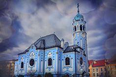 The Blue Church In Bratislava Slovakia by Carol Japp.