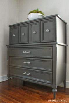 Migonis Home: Makeover Week: 70s Dresser turned Traditional Piece