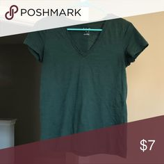 V Neck T-Shirt Dark green v neck t-shirt. Runs a little 73bca564ce3