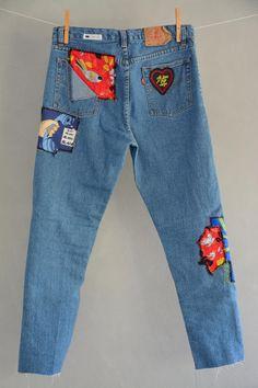 Levis 501, Levis Jeans, Grunge Jeans, Hipster Jeans, Patched Jeans, Levis Vintage, Jean Vintage, Vintage Mom Jeans, Blue Jeans