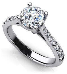 Timeless Round Engagement Ring with Side Diamonds