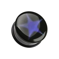 Thermotropic Star Single Flared Mood Plug - 2 GA - Sold as a Pair