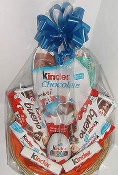 Homemade gift ideas chocolate sweet candy bouquet with kinder egg surprise birthday hamper birthday gift for boy girl sweets chocolat negle Choice Image