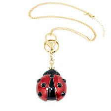 Butler & Wilson Ladybird Keyring with 100cm Chain