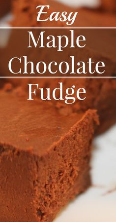 Maple Chocolate Fudge Refined sugar free, Gluten free, Grain free, Traditional Foods, Real Food, Primal {Substitutions for Vegan, Paleo and Dairy free!}