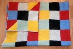Vintage blanket with label van Wyk