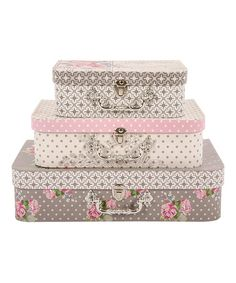 Beau Three Floral Luggage Boxes Set By Tri Coastal Home Organisation On  #zulilyUK Today!