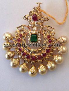 1 Lakh Worth Pachi Work Pendants