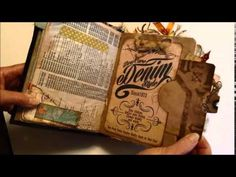 "▶ Flip through of my ""Blue Jean Denim Journal Swap"" journal - YouTube"