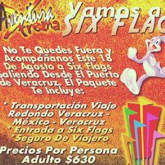 Vamos a Six Flags este 18 de agosto saliendo desde #Veracruz http://www.turismoenveracruz.mx/2012/07/vamos-a-six-flags-este-18-de-agosto-de-2012/